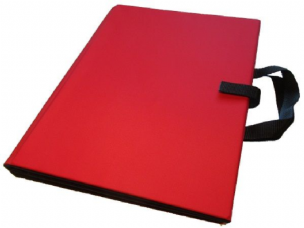 A3 Communication Book: Fabric Pages - Red